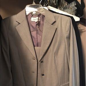 Calvin Klein light gray pant suit, NWT